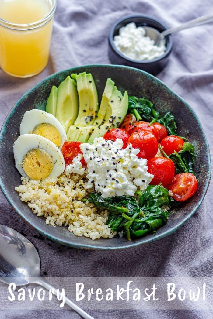 Healthy Savory Breakfast Bowl Pin