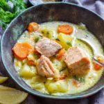 Homemade Salmon Soup