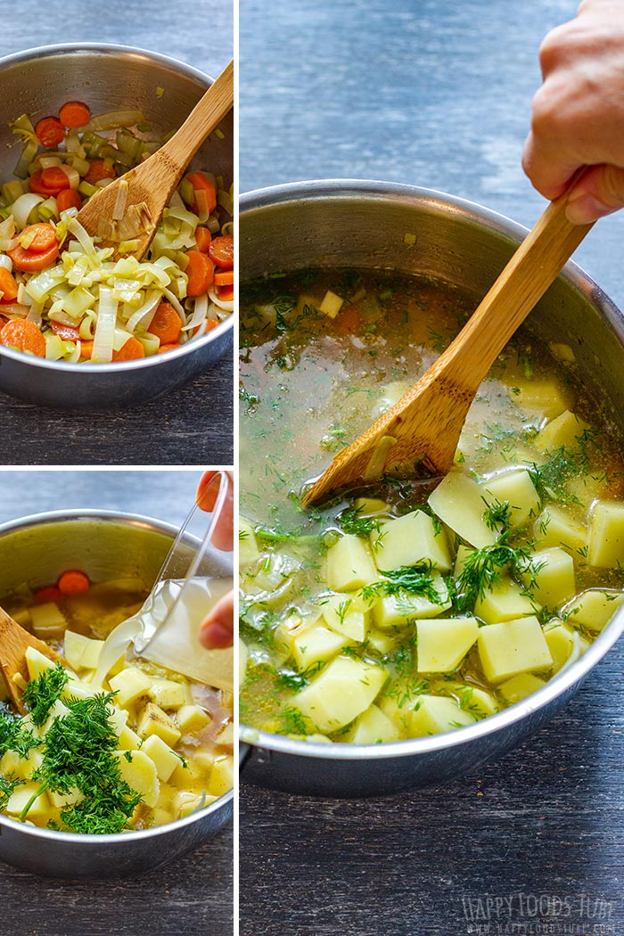How to make Salmon Soup Picture Collage
