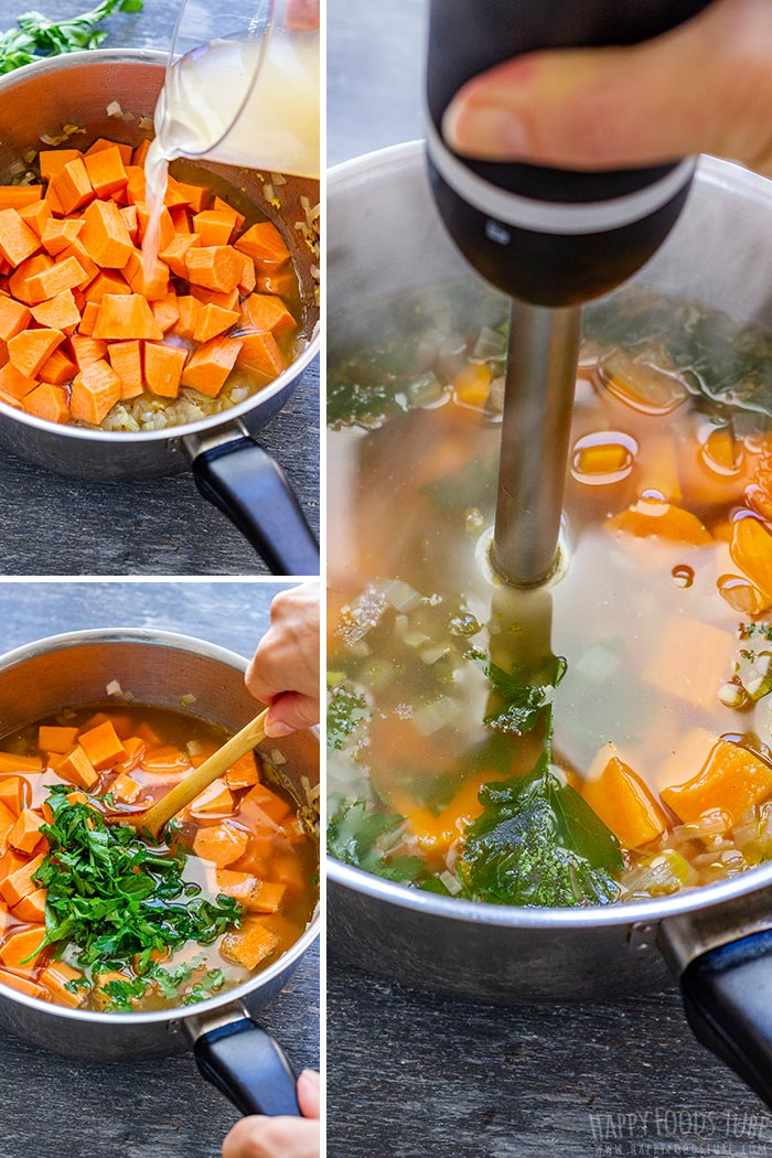 How to make Sweet Potato Soup Step 1 Picture Collage