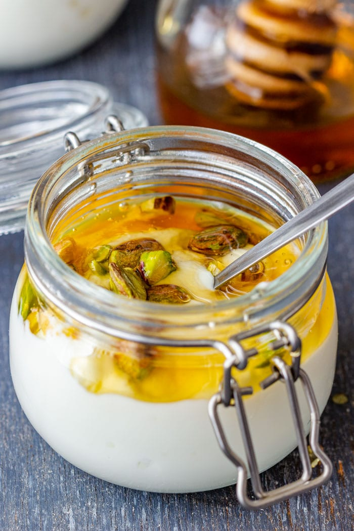 Instant Pot Greek Yogurt with Honey and Pistachios
