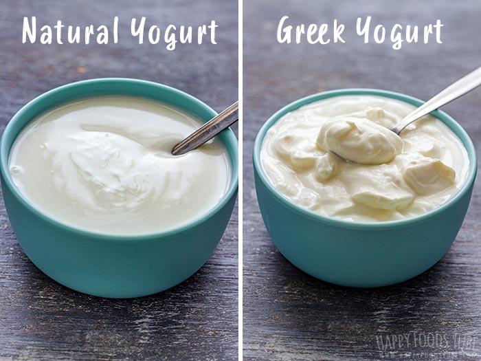 Natural Yogurt vs Greek Yogurt