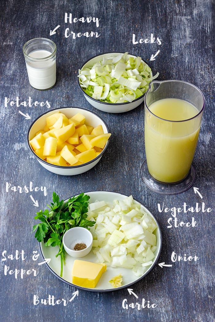 Potato and Leek Soup Ingredients