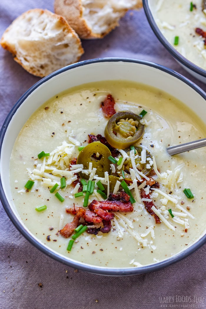 Spicy Potato Cheddar Soup
