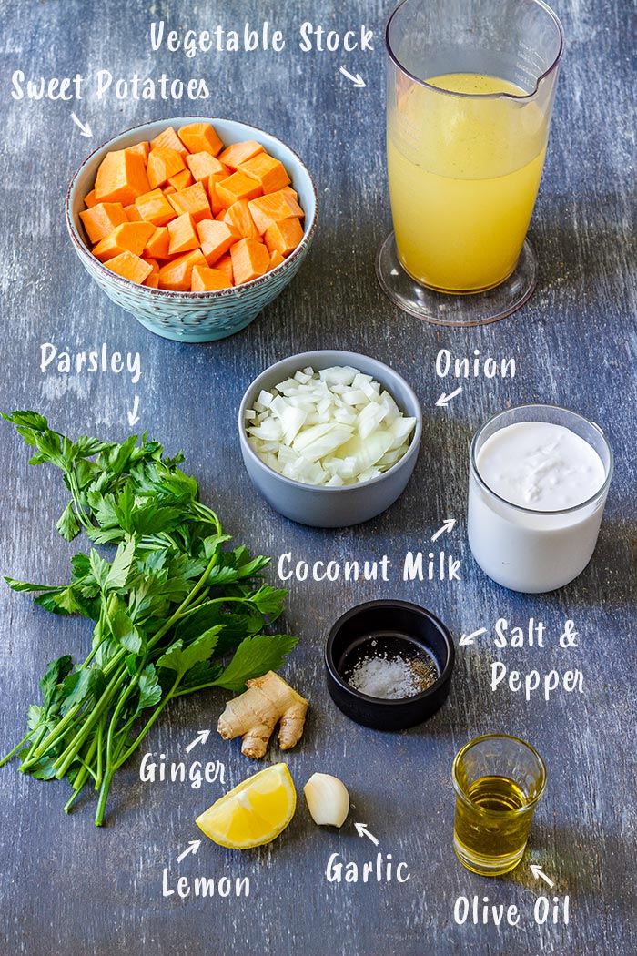 Sweet Potato Soup Ingredients