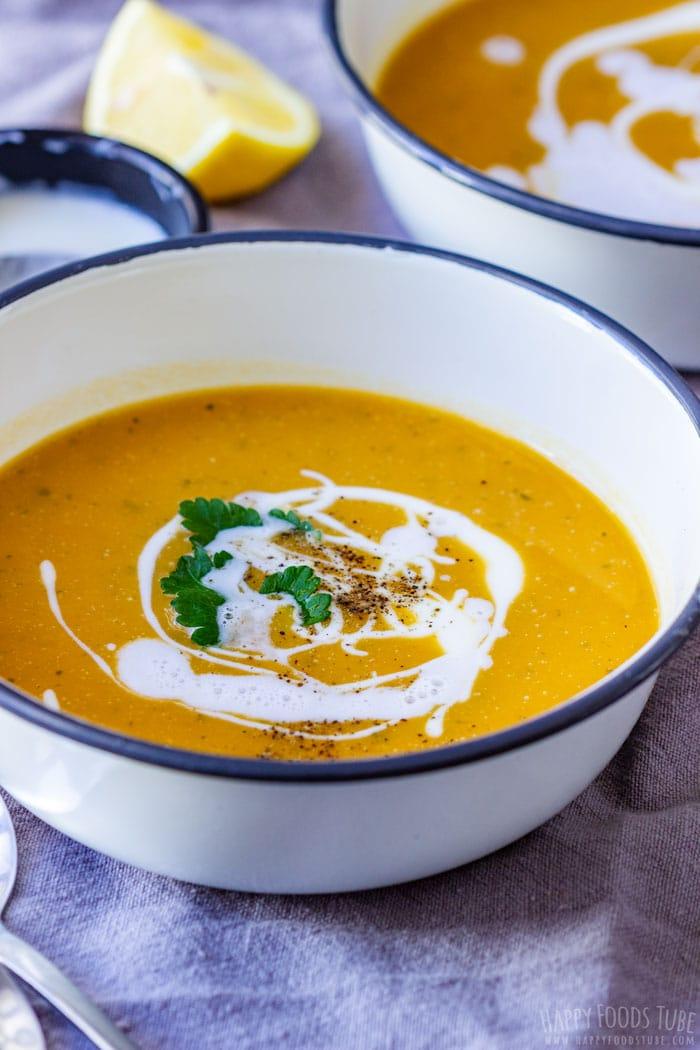 Vegan Sweet Potato Soup Bowl