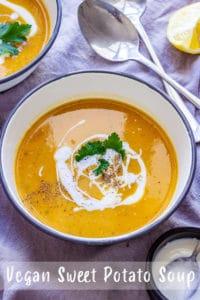 Vegan Sweet Potato Soup Pin