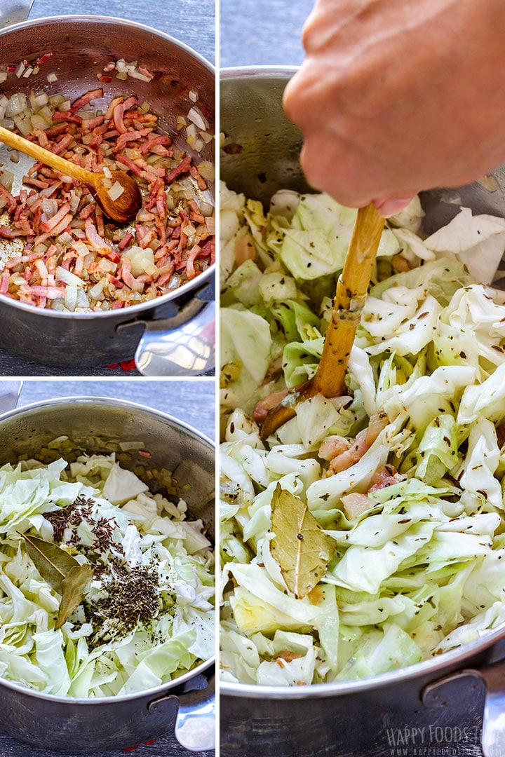How to make Cabbage and Bacon Picture Collage
