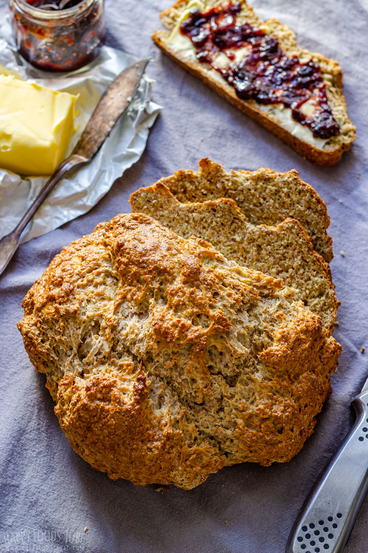 Freshly Baked Soda Bread Loaf