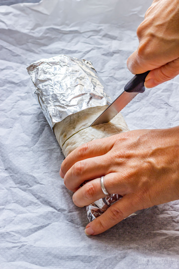 How to cut Burritos
