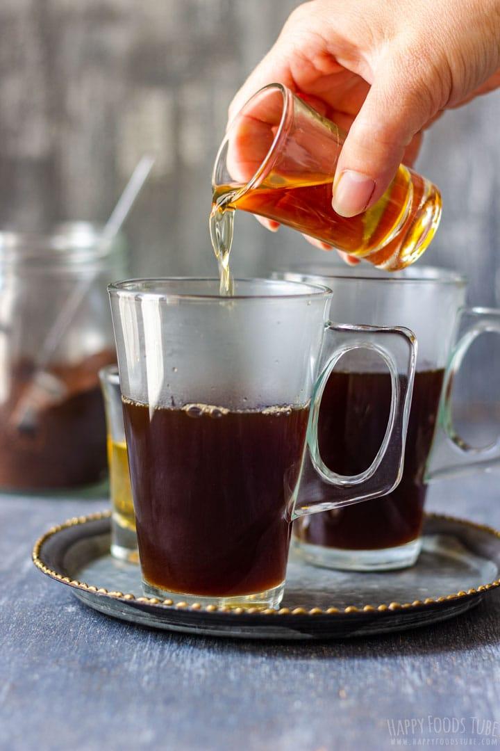 How to make Irish Coffee Step 4 - Adding Whiskey