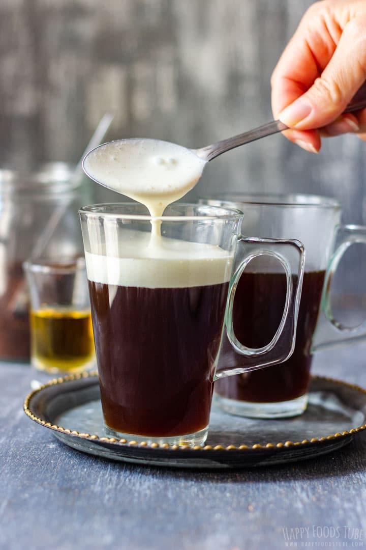 How to make Irish Coffee Step 5 - Topping Cream
