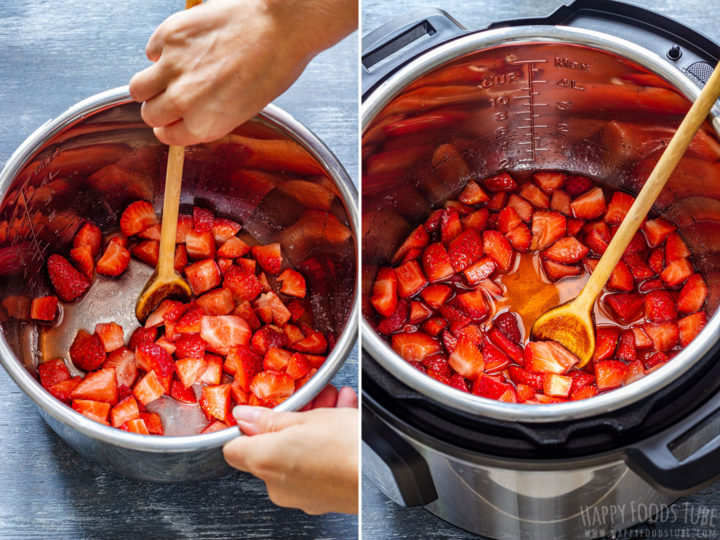 How to make Strawberry Sauce in an Instant Pot Step 1