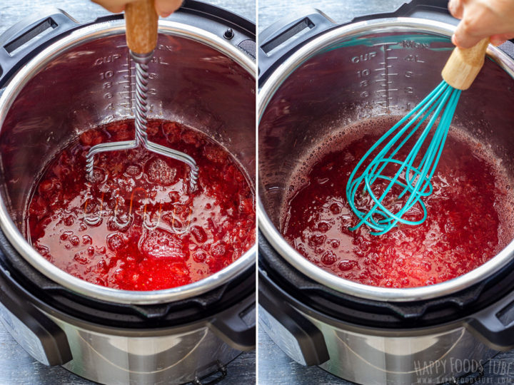 How to make Strawberry Sauce in an Instant Pot Step 3