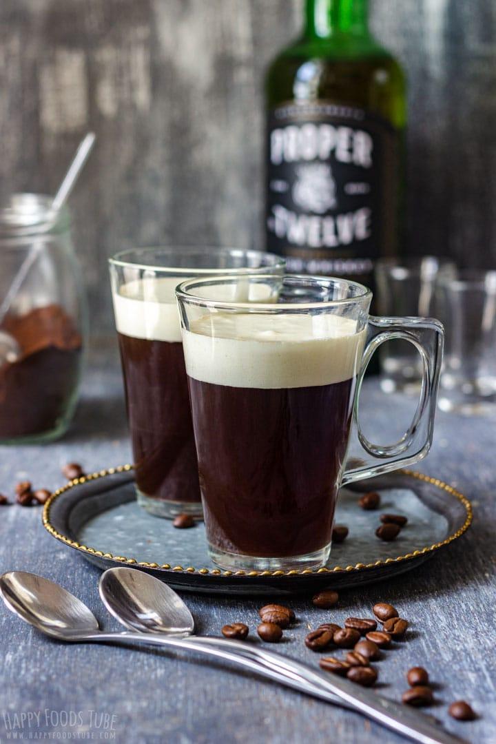 Irish Coffee with Whiskey