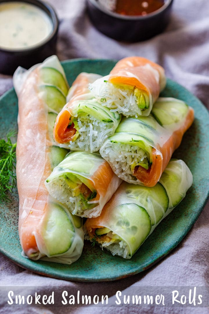 Smoked Salmon Summer Rolls Pin