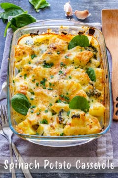 Spinach Potato Casserole Pin