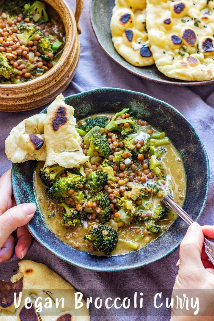 Vegan Broccoli Curry Pin
