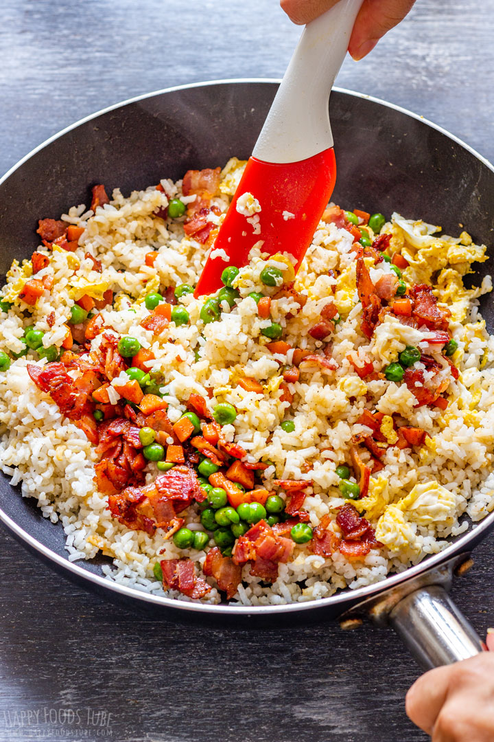 Cooking Fried Rice with Bacon