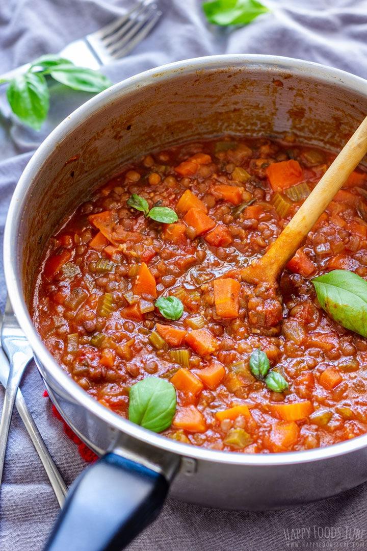 Homemade Lentil Bolognese Sauce