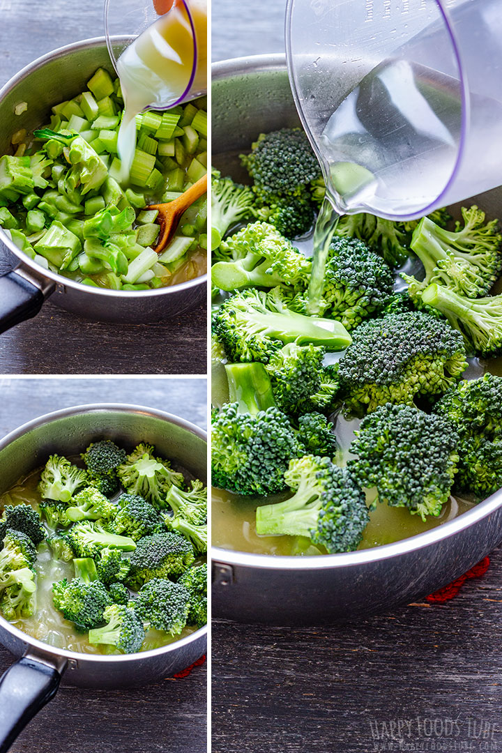 How to make Broccoli Celery Soup Picture Collage