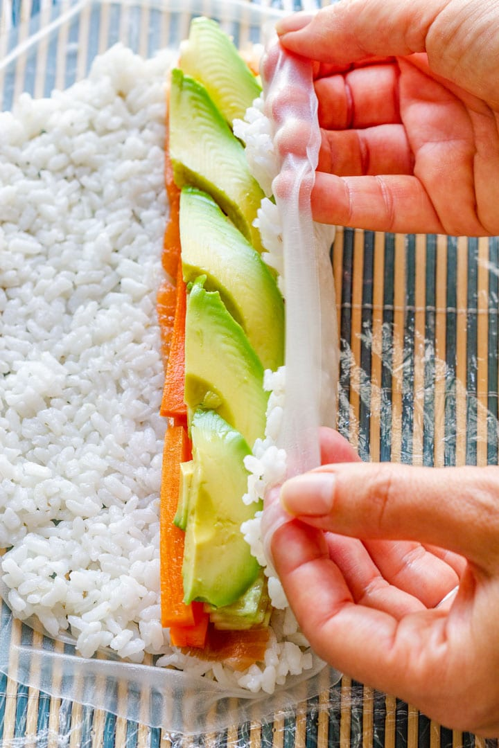 How to make Rice Paper Sushi Step 2