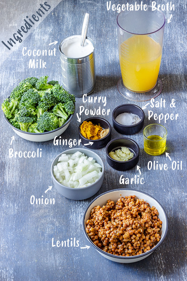Ingredients of Broccoli Curry