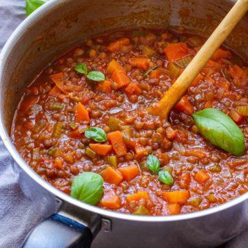 Lentil Bolognese Sauce
