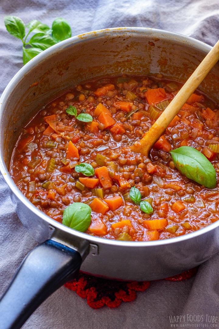 Meat Free Lentil Bolognese Sauce