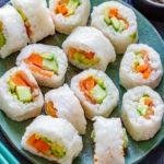 White Rice Paper Sushi