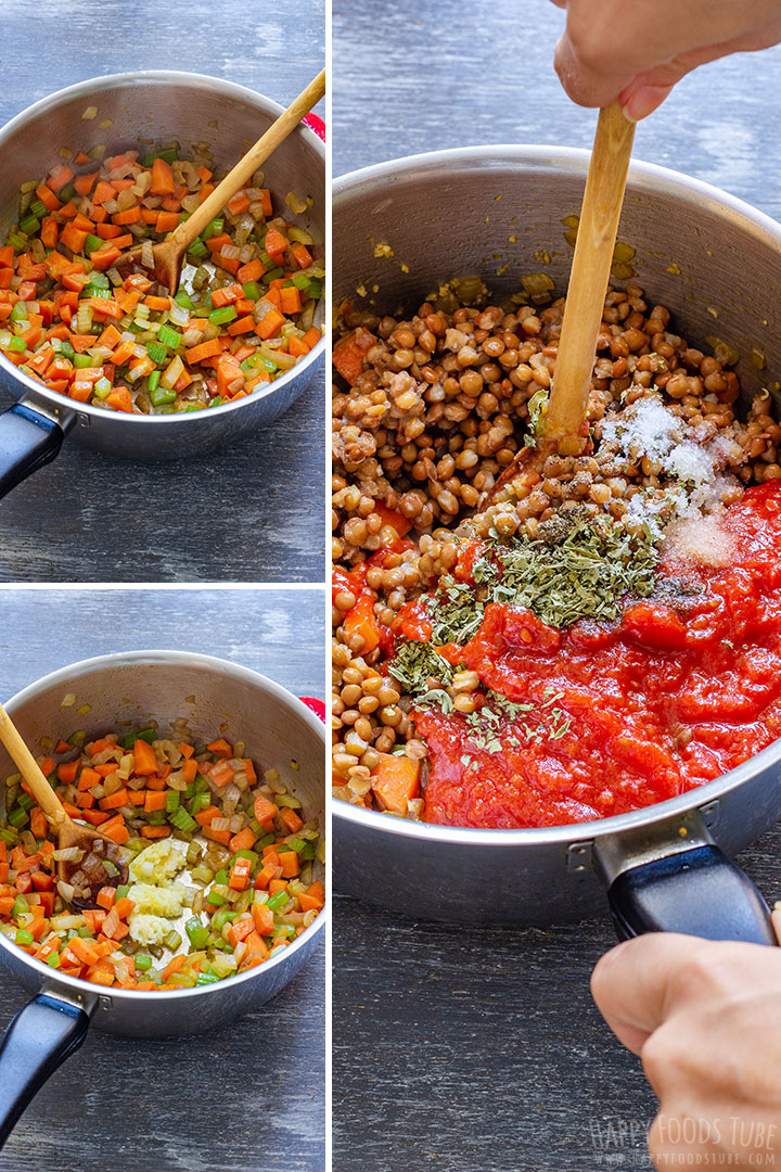 Steps how to make Lentil Bolognese Sauce