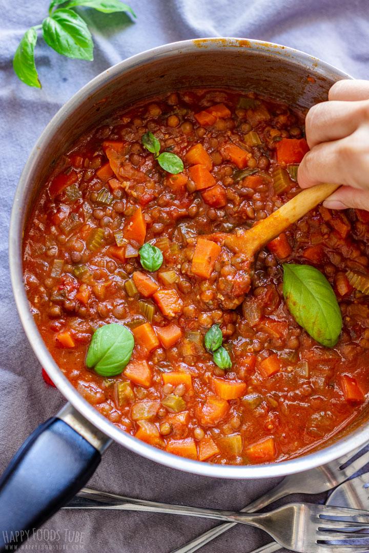 Vegetarian Lentil Bolognese Sauce
