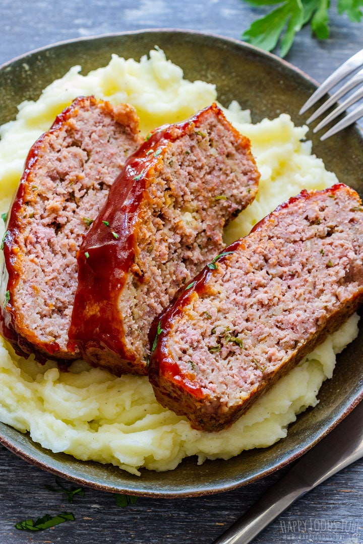 BBQ Meatloaf with Mashed Potatoes