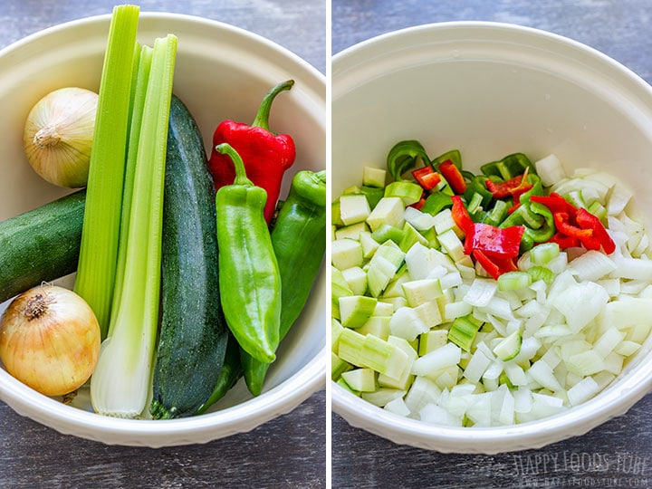 Fresh Vegetables and Chopped Vegetables