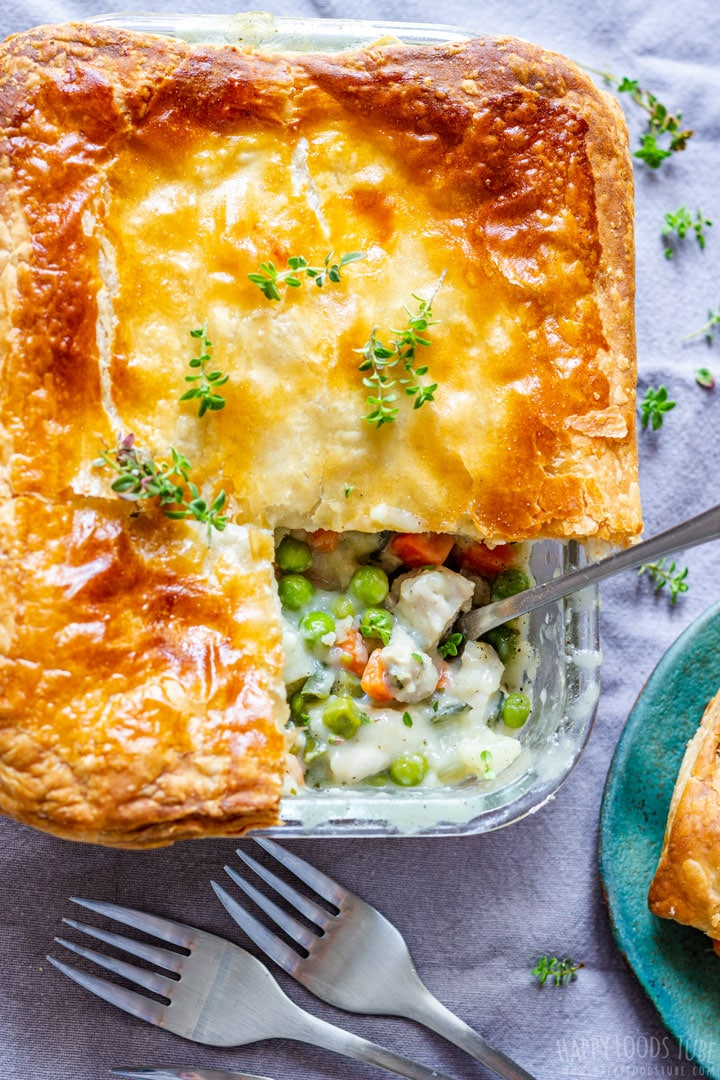 Homemade Chicken Pot Pie with Puff Pastry