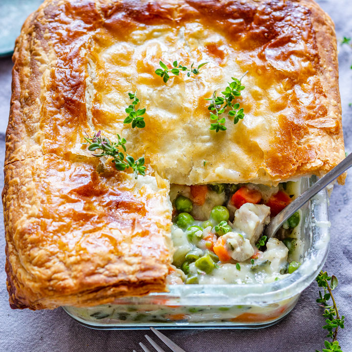 Puff Pastry Chicken Pot Pie Recipe
