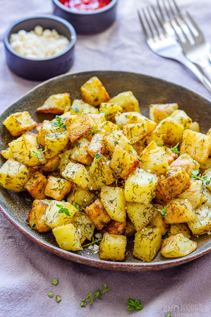 Roasted Cubed Potatoes