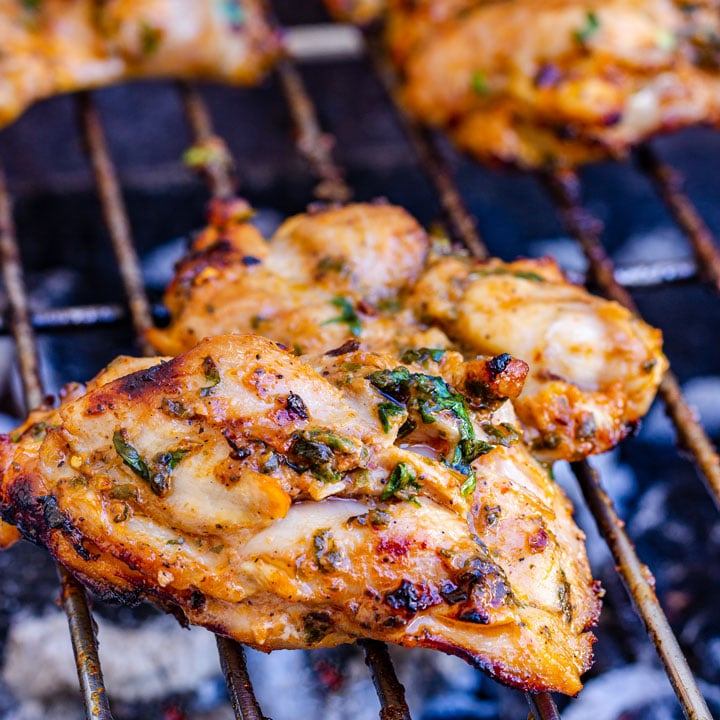 Spicy Barbecued Chicken Thighs