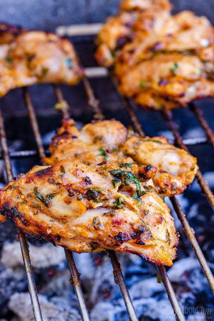 Spicy Crispy Grilled Chicken Thighs