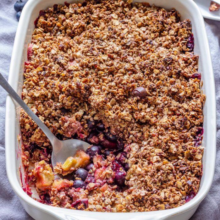 Blueberry Rhubarb Crisp