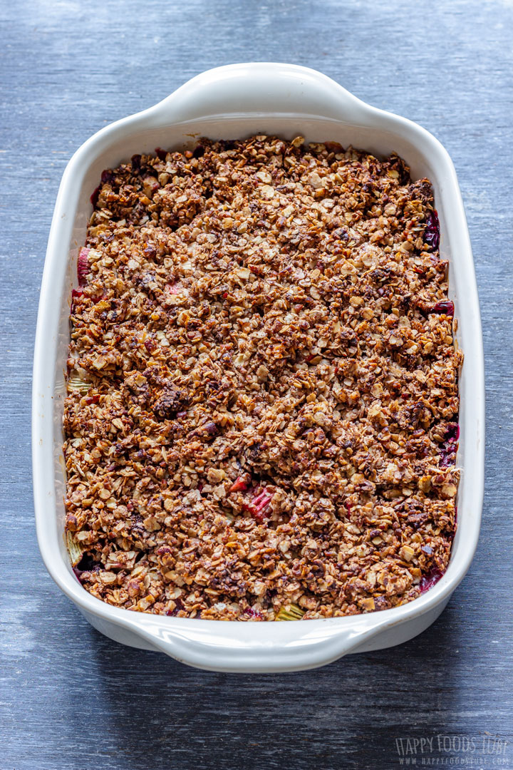 Rhubarb Crisp with Blueberries