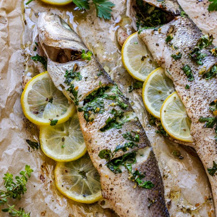 Whole Oven Baked Sea Bass Recipe