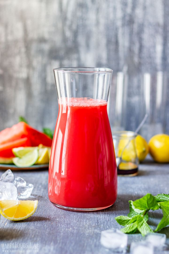 Refreshing Watermelon Agua Fresca with Mint and Lemon