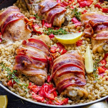 Bacon wrapped chicken thighs recipe
