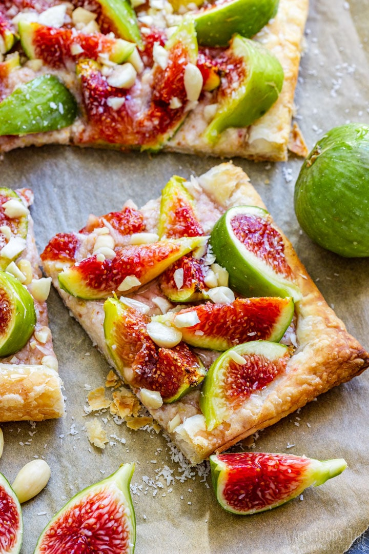Fig tart with fresh figs
