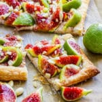 Sliced fig tart
