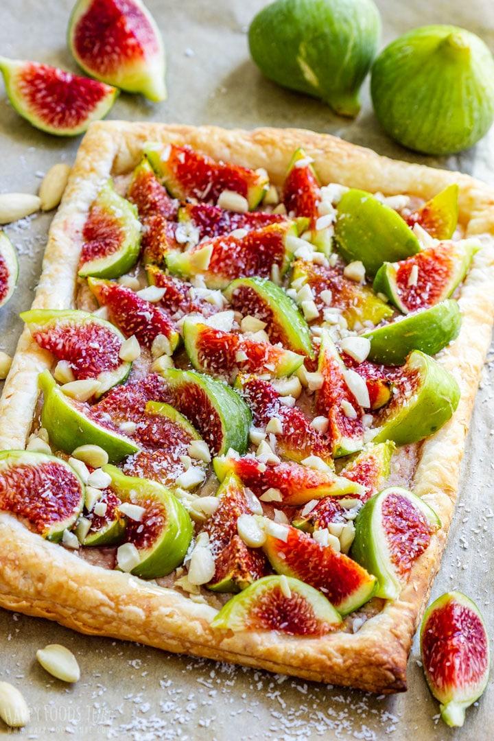 Homemade fig tart