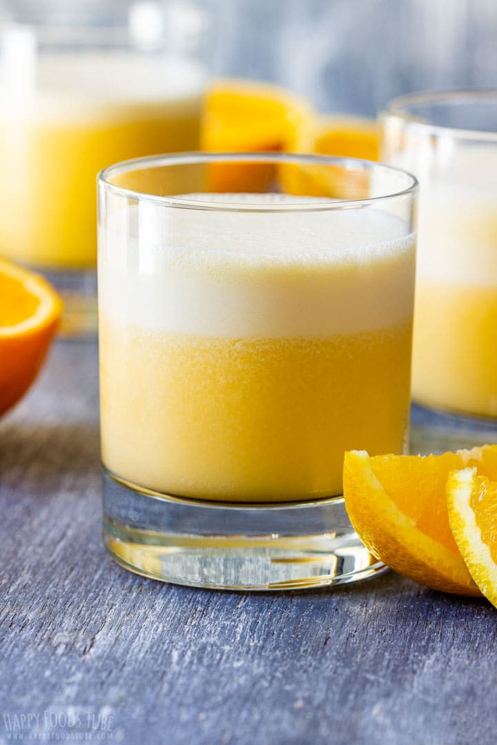 Refreshing orange Julius drink