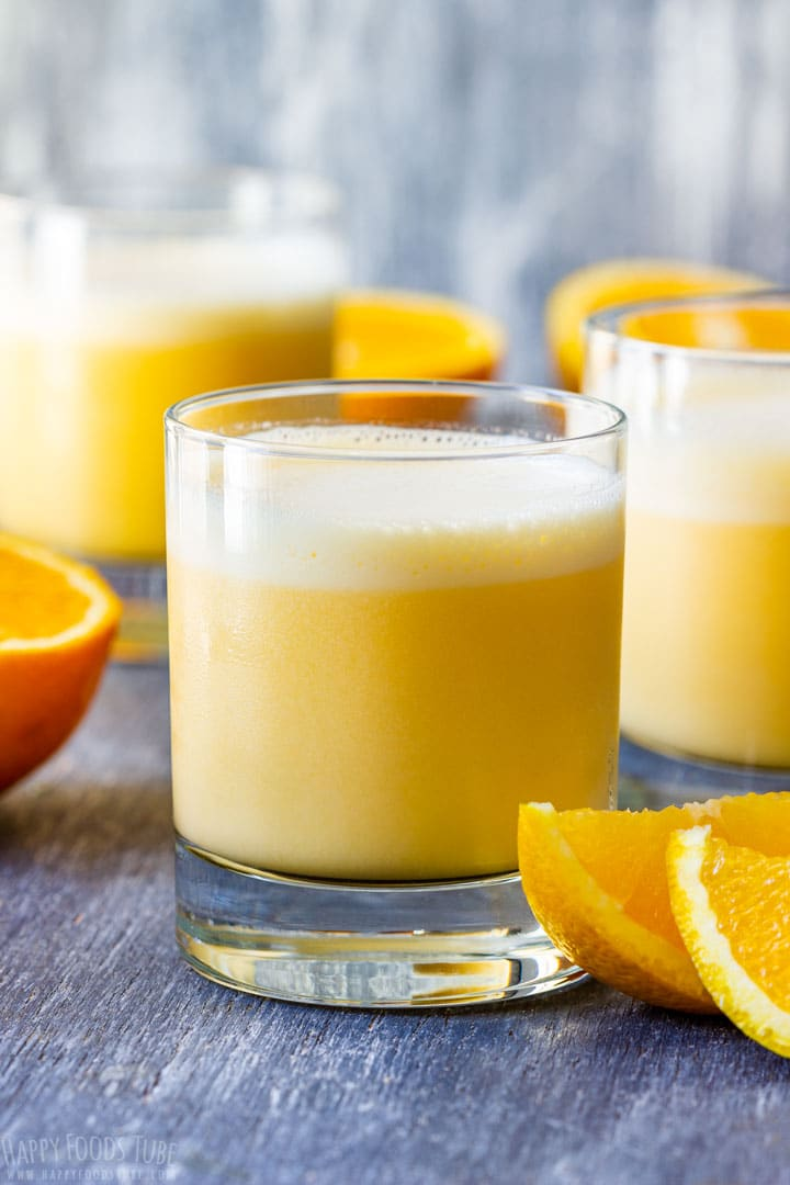 Homemade fresh orange Julius
