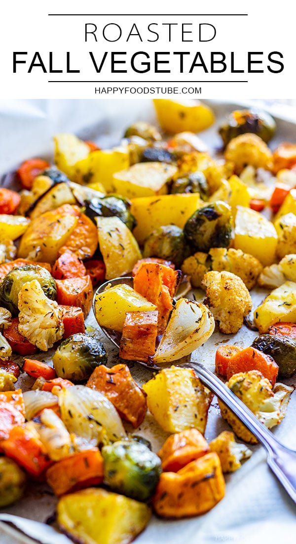 Roasted fall vegetables pin